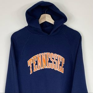 Vintage University Tennessee Spellout Logo Hoodie